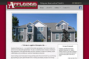 Applebee Enterprises Website Thumbnail